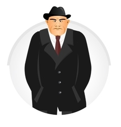 Mature mafia boss vector