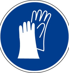 Protective Gloves Must Be Worn Safety Sign vector image