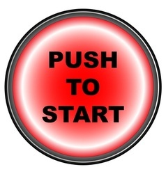 Push to Start vector image vector image