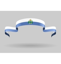 San Marino flag background vector image vector image