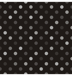 Seamless polka dots dark background vector image