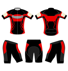 Sports t-shirt red style vector