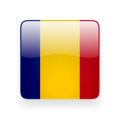 Square icon with flag of romania vector