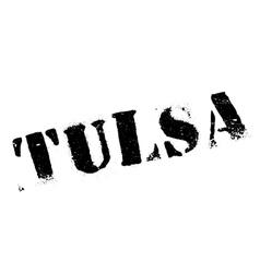 Tulsa stamp rubber grunge vector