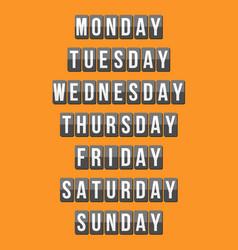 weekly calendar vector image vector image