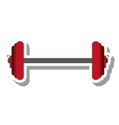 Weight lifting equipment isolated icon vector