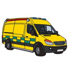 yellow ambulance vector image vector image