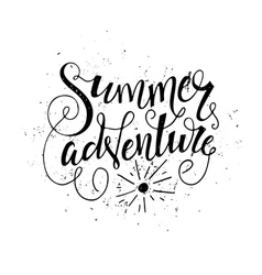 Handdrawn summer quote vector