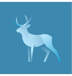 Deer graphic color logo for the brand vector
