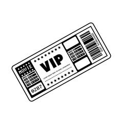 Vip ticket entrance icon vector