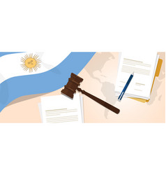 Argentina law constitution legal judgment justice vector