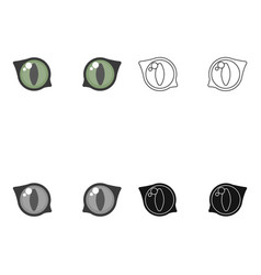 cat eyes icon in cartoon style isolated on white vector image