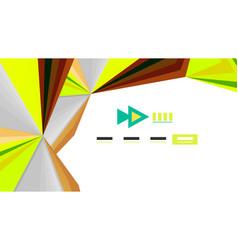 Modern triangle presentation template vector