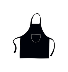 Isolated apron silhouette vector