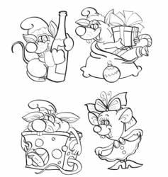 Cheerful mice vector