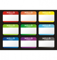 hello name tags vector image