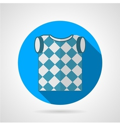 Golf vest flat icon vector