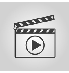 The clapper board icon play symbol flat vector