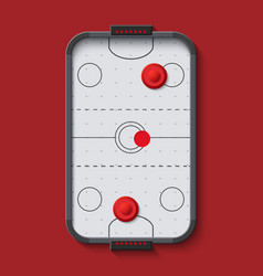 Modern air hockey table vector