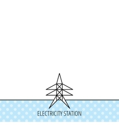 Electricity station icon power tower sign vector
