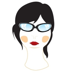 Person of the girl bespectacled vector
