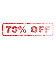 70 percent off rubber stamp vector