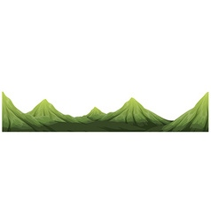 Seamless green mountain range vector