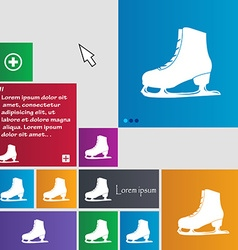 Ice skate icon sign buttons modern interface vector