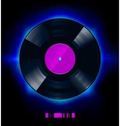 vinyl disc vector image