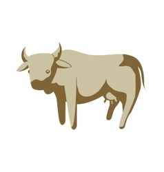 Cow icon animal farm design graphic vector