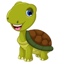 Cut cartoon turtle for you design vector