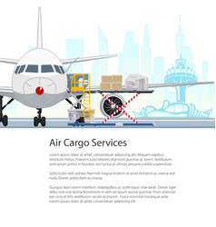Air cargo services and freight brochure design vector