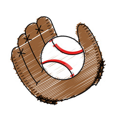 Baseball glove equipment icon vector