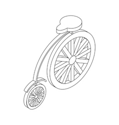 Bicycle icon isometric 3d vector image