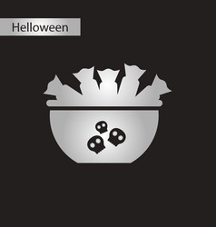 black and white style icon halloween candy vector image vector image