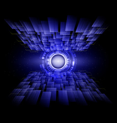 blue line abstract technology background vector image