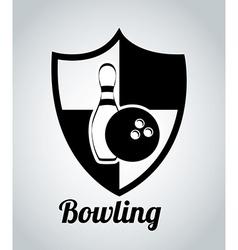 Bowling design vector