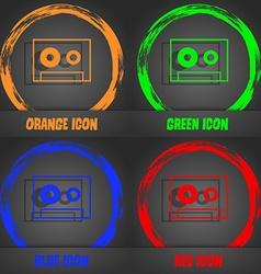 Cassette sign icon audiocassette symbol vector