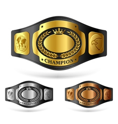 Champion belt vector