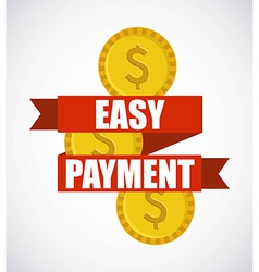 easy payment design vector image