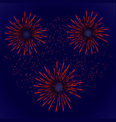 firework with red stars vector image