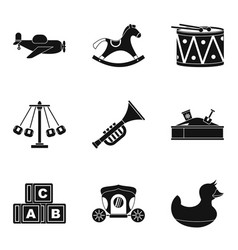 gaud icons set simple style vector image vector image