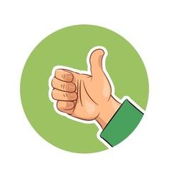 Hand gesture ok vector image vector image