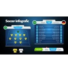 info graphic football field statistics vector image