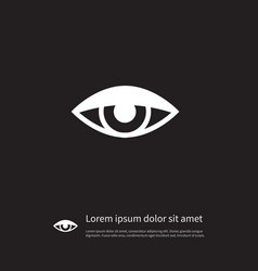 isolated see icon vision element can be vector image vector image