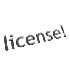 License text design vector