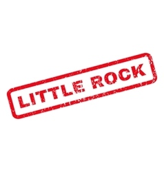 Little Rock Rubber Stamp vector image