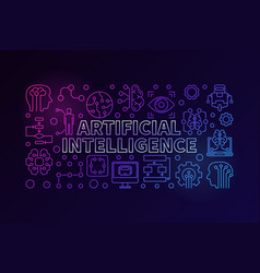 Modern colorful ai vector