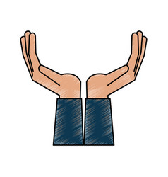 Open hands facing up icon image vector