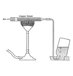 Preparing nitrogen vintage vector
